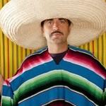 Mexican mustache chili drunk tequila sombrero man