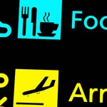 Airport sings - food and arrival