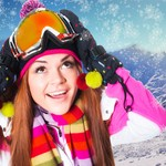 Girl on the ski resort