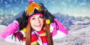 Girl on the ski resort