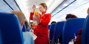 air hostess at work