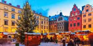 Christmas fair in Stockholm, Sweden