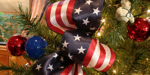 American christmas ribbon
