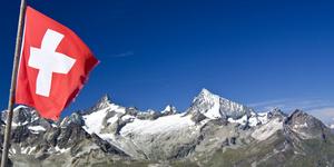 Berge in den Walliser Alpen in der Schweiz
