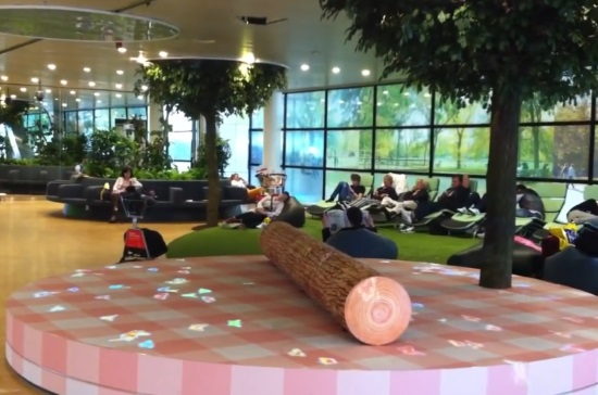 Природный зал ожидания аэропорта Схипхол в Амстердаме