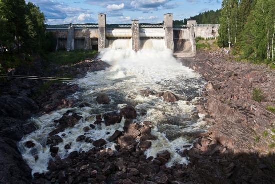 Водопад Иматра в Финляндии