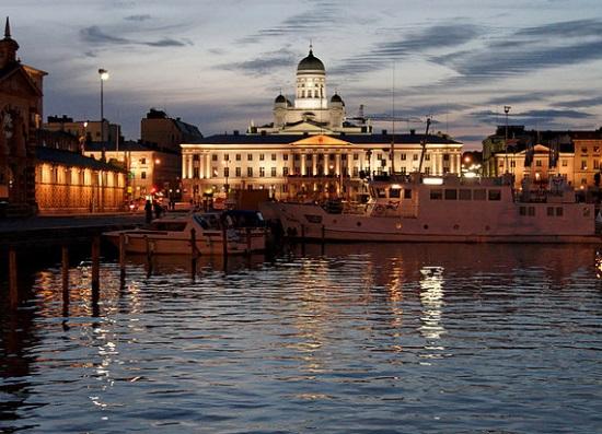 Хельсинки ночью