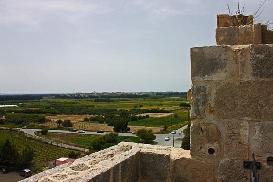Вид с замка Колосси на окрестности