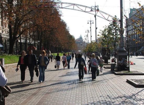 Крещатик, старейшая улица в Киеве