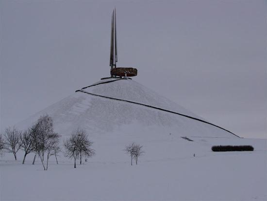 Мемориал Курган Славы в Белоруссии зимой