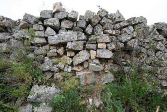 Стена Курыканского городища