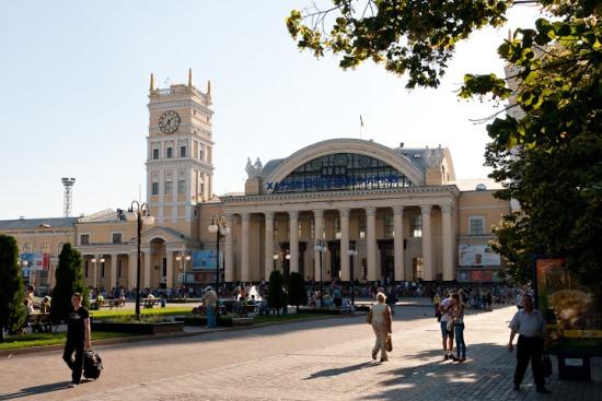 Вокзал в Харькове на привокзальной площади