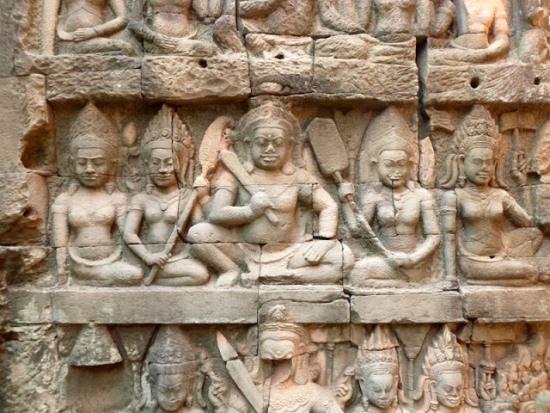 Ангкор-Ват, барельефы