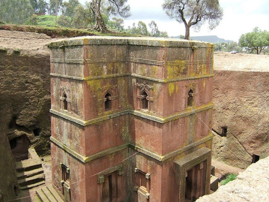 скальные церкви в Эфиопии
